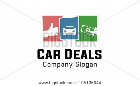 Car Deals Design Illustration Thumb Money Symbol poster