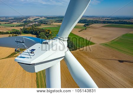 Aerial View On The Windmills