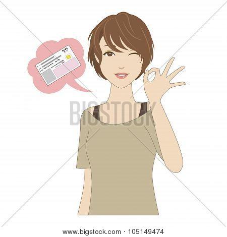 Smiling Woman Signing Ok