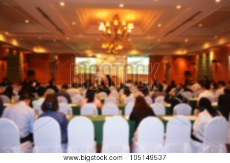 Seminar Room In Hotel: Abstract Blur