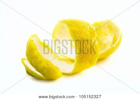 The Skin Of The Peeled Lemon