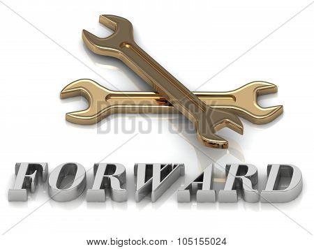 Forward- Inscription Of Metal Letters And 2 Keys