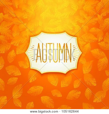 Autumn badge design