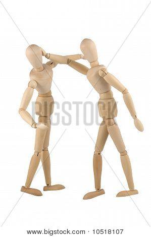 Wooden Dumies Fighting