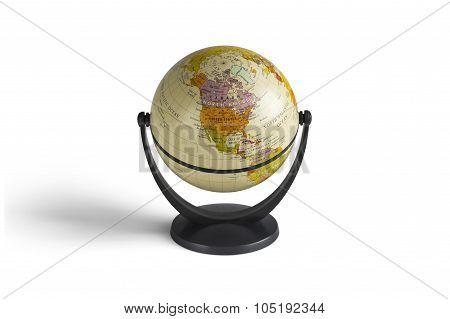 Globe model in white background