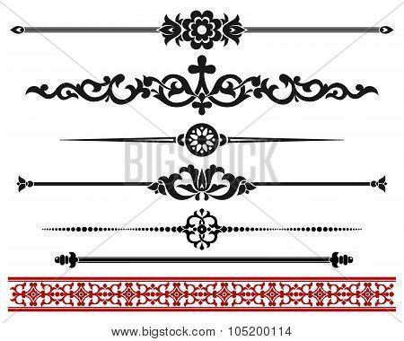 Decorative elements.