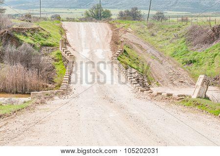Single Lane Bridge Between Matjiesfontein Farm And Nieuwoudtville