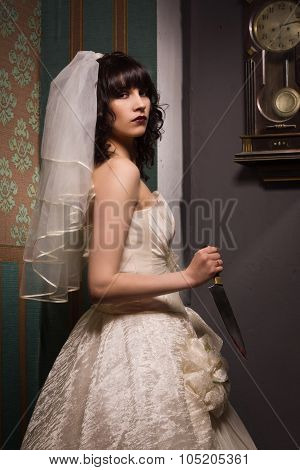 Bride With Sharp Knife