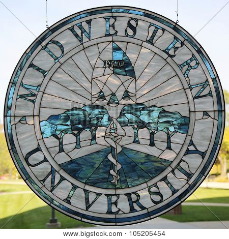 Midwestern University logo at College of Dental Medicine Illinois