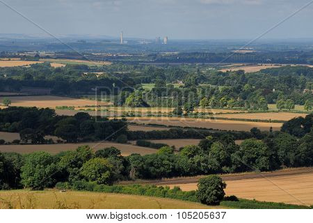 English Countryside with Old Powerstation Didcot