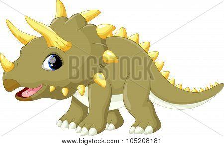 Cute triceratops cartoon