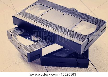 The Old Video Tapes. Tinted Photos