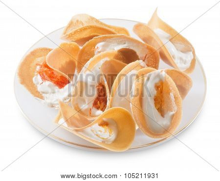 Thai Crispy Crepes Or Thai Crispy Pancake