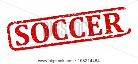 Damaged Oval Stamp With The Words - Soccer