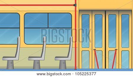 Interior Of Old Tram