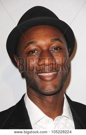 LOS ANGELES - OCT 16:  Aloe Blacc at the 44th Annual Peace Over Violence Humanitarian Awards at the Dorothy Chandler Pavilion on October 16, 2015 in Los Angeles, CA