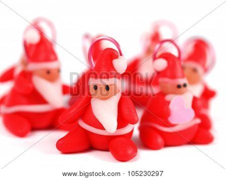 Polymer Clay Santas, Christmas Decoration