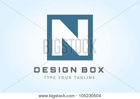 N logo icon template monogram