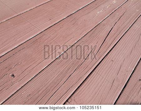 Wood Deck Beams - Damaged