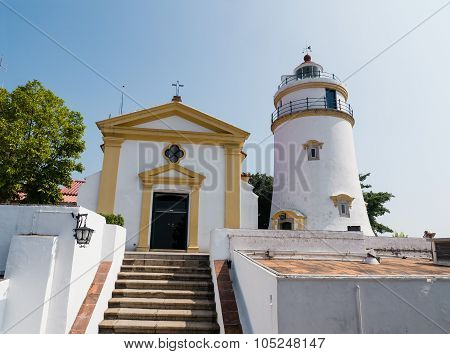 The Famous Light House At Guia Hill