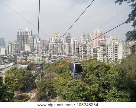 The New Cable Car At Guia Hill