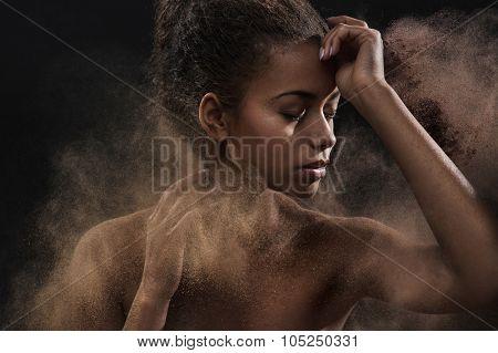 Fine art portrait of a brunette beauty