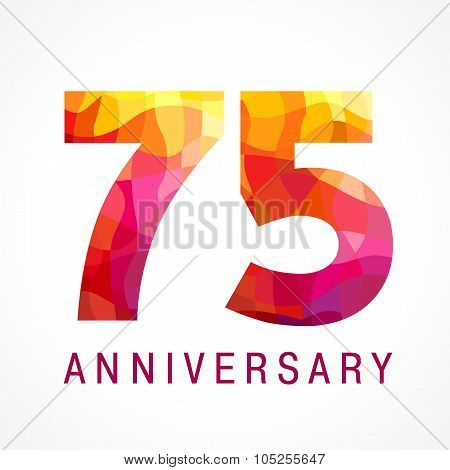 75 anniversary red colored logo.