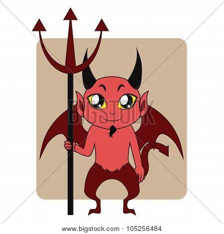 Devil Halloween monster mascot