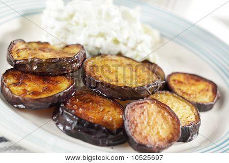 Roasted Eggplants With Tzatziki