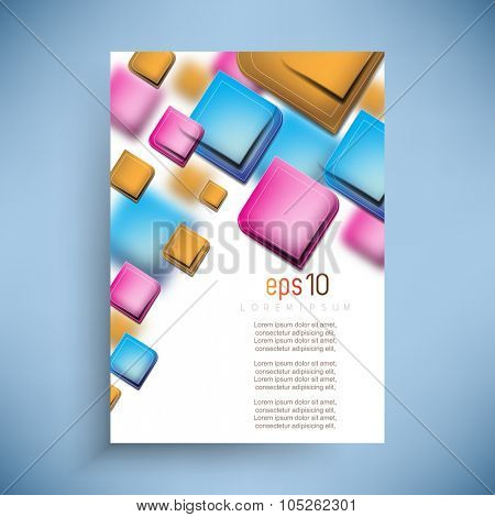 colorful overlapping geometric shapes candy color background