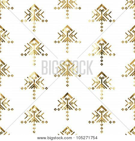 Tribal Gold Ornament