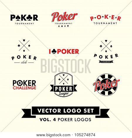 Poker Vector Logo Set