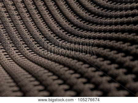 Microscopic Close Up Of Fabric Or Fibres With Depth Of Field