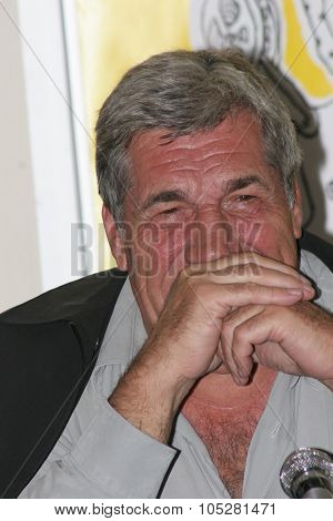 CANNES, FRANCE - MAY 16: Actor  Jean-Pierre Castaldi attends a photo call  the film 'Travaux, on sait quand ca commence... during the 58th  Cannes Film Festival May 16, 2005 in Cannes, France