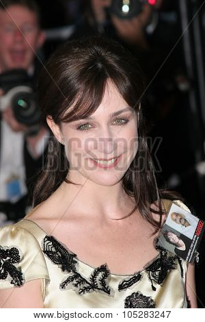 CANNES, FRANCE - MAY 16: Elsa Zylberstein attends a Premier the film 'Joyeux Noel' at the Palais during the 58th International Cannes Film Festival May 16, 2005 in Cannes, France