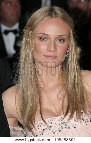 CANNES, FRANCE - MAY 16: Diane Kruger attends a Premier the film 'Joyeux Noel' at the Palais during the 58th International Cannes Film Festival May 16, 2005 in Cannes, France