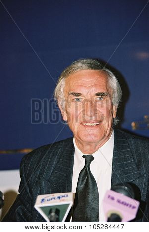 MOSCOW - JULY 25 : Martin Landau attends the press conference at the 21th International Moscow Film Festival on July 25, 1999 in Moscow, Russia.