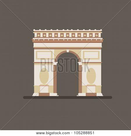Arch of Triumph Vector Illustration