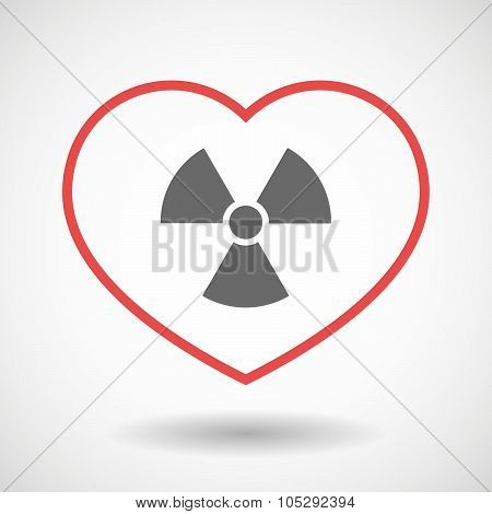Line Heart Icon With A Radio Activity Sign