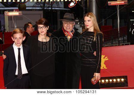 BERLIN, GERMANY - FEBRUARY 13: Lea Seydoux, Ursula Meier, Kacey Mottet Klein attend the 'L'Enfant d'en Haut' Premiere during of the 62 Berlin Festival at the Palast on Feb. 13, 2012 in Berlin, Germany