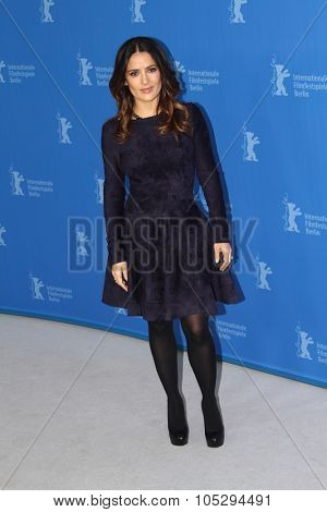 BERLIN, GERMANY - FEBRUARY 15: Salma Hayek  attends the 'La Chispa De La Vida' Photocall during of the 62nd Berlin Film Festival at the Grand Hyatt on February 15, 2012 in Berlin, Germany.