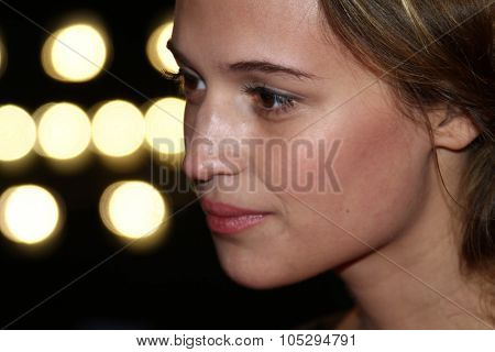 BERLIN, GERMANY - FEBRUARY 16: Alicia Vikander attends the 'En Kongelig Affaere' Premiere during of the 62nd Berlin  Film Festival at the Berlinale Palast on February 16, 2012 in Berlin, Germany