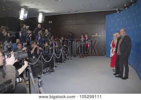 BERLIN, GERMANY - FEBRUARY 08: Ulrich Seidl, Melanie Lenz attend 'Paradise: Hope' Photocall during the 63rd Berlinale Film Festival at Grand Hyatt on February 8, 2013 in Berlin, Germany.