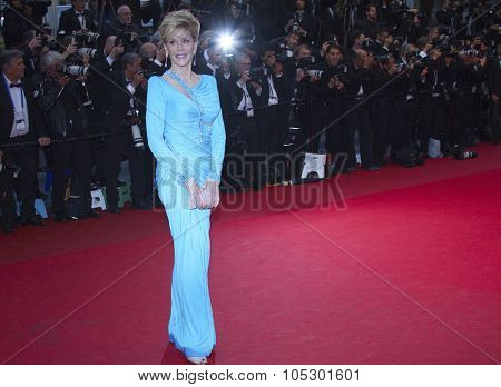 CANNES, FRANCE - MAY 18: Jane Fonda attends 'Jimmy P. (Psychotherapy Of A Plains Indian)' Premiere during the 66th Annual Cannes  Festival at Grand Theatre Lumiere on May 18, 2013 in Cannes, France.