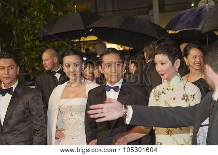 CANNES, FRANCE - MAY 18:  Carina Lau and Tony Leung Chiu Wai attend the 'Soshite Chichi Ni Naru' Premiere during the 66th  Cannes Film Festival at the Palais  on May 18, 2013 in Cannes, France.