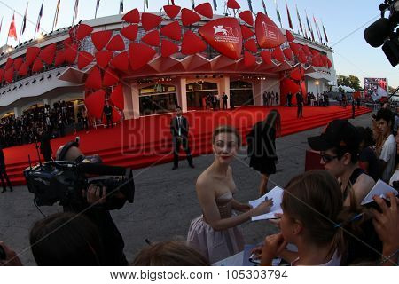 VENICE, ITALY - AUGUST 30:  Sarah Gadon wears the Jaeger-LeCoultre Reverso Cordonnet watch at the 'Joe' Premiere during the 70th Venice  Festival at the Palazzo  on August 30, 2013 in Venice, Italy