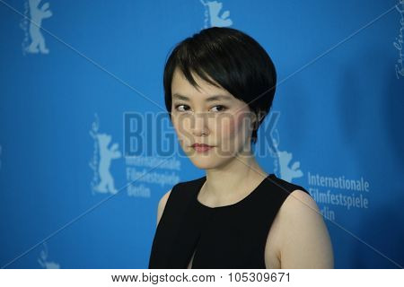 BERLIN, GERMANY - FEBRUARY 5: Rinko Kikuchi poses during the photocall for the 'Nadie quiere la noche' (Nobody Wants the Night) presented at the 65th Film Festival in Berlin, on February 5, 2015.