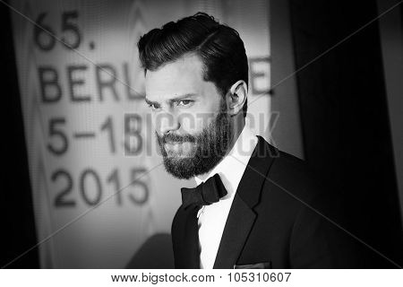 BERLIN, GERMANY - FEBRUARY 11: Jamie Dornan attends the 'Fifty Shades of Grey' premiere during the 65th Berlinale Film Festival at Zoo Palast on February 11, 2015 in Berlin, Germany.