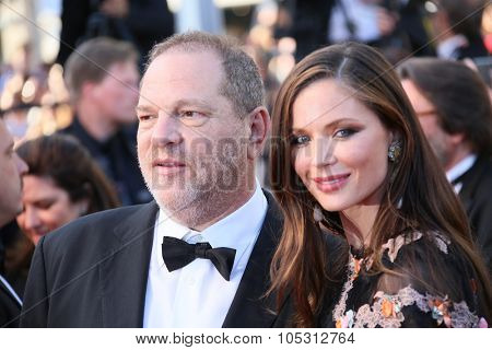 Harvey Weinstein and Georgina Chapman  attends the 'Little Prince' Premiere during the 68th annual Cannes Film Festival on May 22, 2015 in Cannes, France.