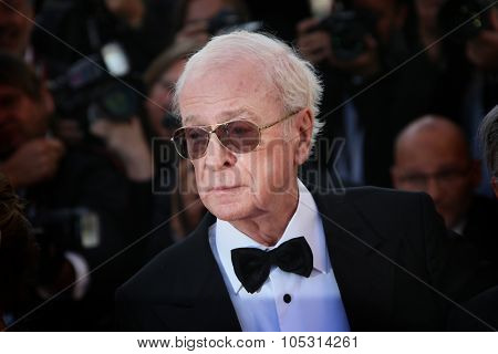 CANNES, FRANCE - MAY 20, 2015: Sir Michael Caine  attends the 'Youth' Premiere during the 68th annual Cannes Film Festival on May 20, 2015 in Cannes, France.